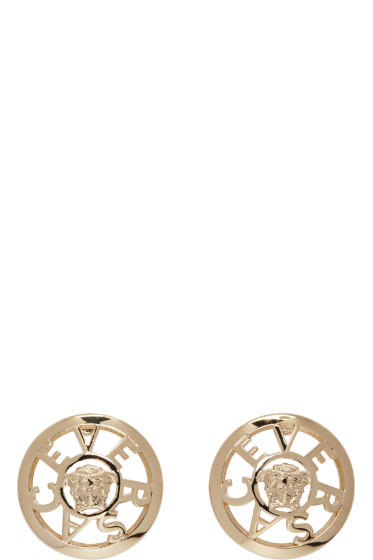 Versace - Gold Small Stud Earrings