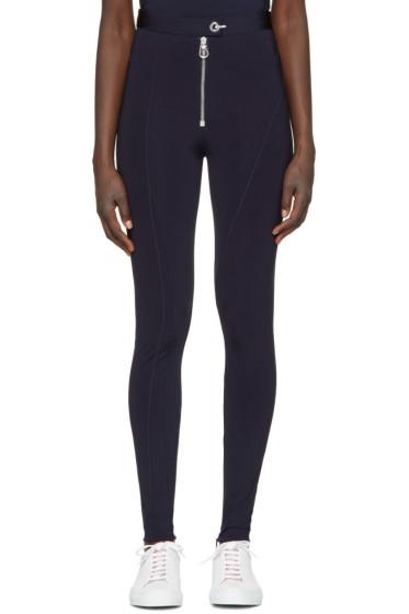 Versace - Navy Zip Front Leggings