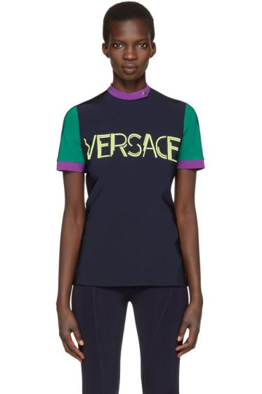 Versace - Tricolor Colorblocked Logo T-Shirt