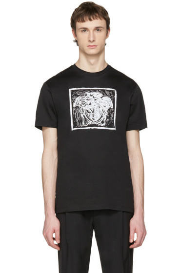 Versace - Black 'Medusa in Square' T-Shirt