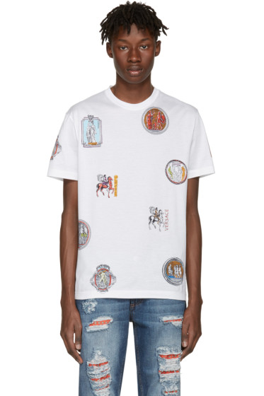 Versace - White Greek Patch T-Shirt