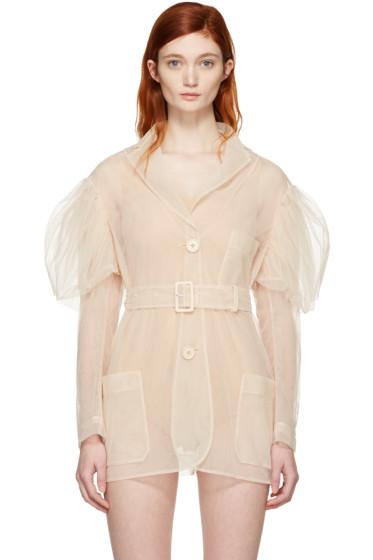 Simone Rocha - Beige Tulle Belted Jacket