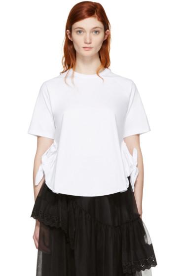 Simone Rocha - White Two-Knot T-Shirt