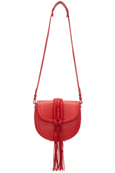 Altuzarra - Red Ghianda Knot Saddle Bag