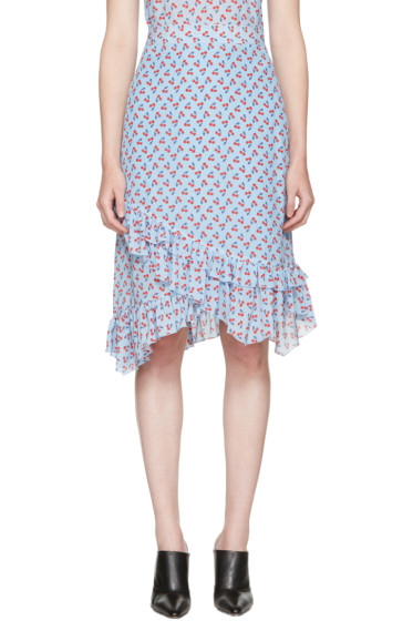 Altuzarra - Blue Maxwell Cherry Skirt
