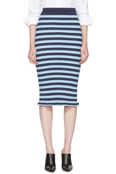 Altuzarra - Blue Striped Bloomfield Skirt