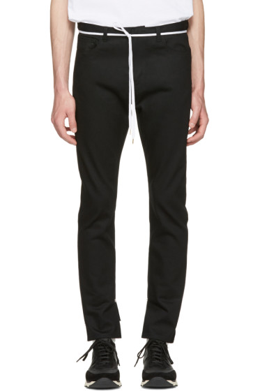 Sasquatchfabrix - Black Slit Skinny Trousers