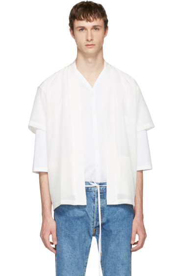 Sasquatchfabrix - White Graphic Hanten Shirt