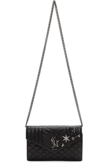 Saint Laurent - Black Deconstructed Monogram Chain Wallet Bag