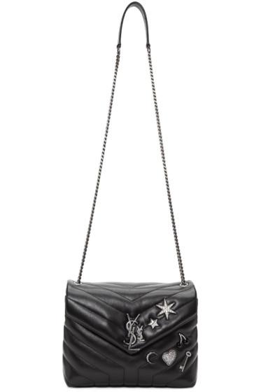 Saint Laurent - Black Small Monogram Soft Chain Bag