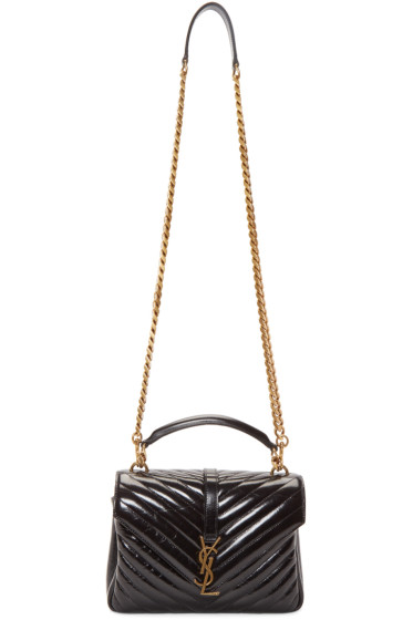 Saint Laurent - Black Medium Quilted College Bag