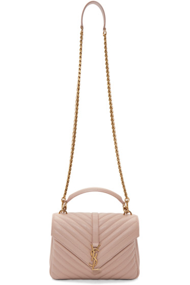 Saint Laurent - Pink Medium Monogram College Bag