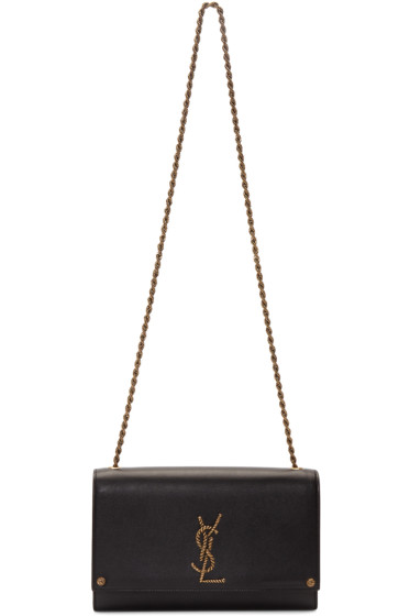 Saint Laurent - Black Medium Kate Monogram Satchel