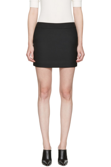 Saint Laurent - Black Classic Smoking Miniskirt