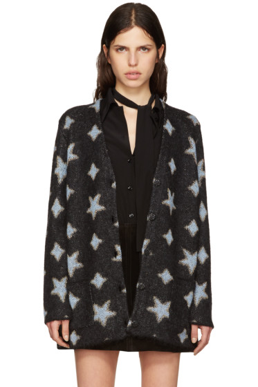 Saint Laurent - Black Oversized Star Cardigan