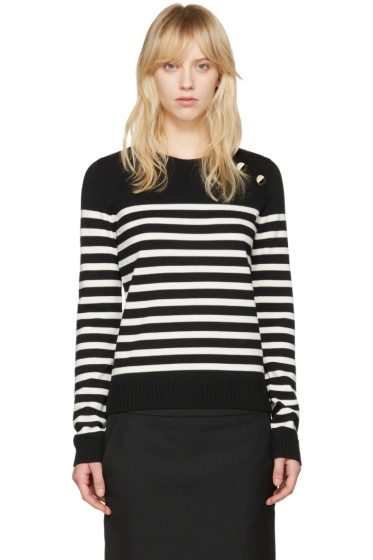 Saint Laurent - Black Striped Sweater