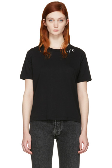 Saint Laurent - Black Triple Heart T-Shirt