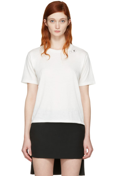 Saint Laurent - White Triple Heart T-Shirt