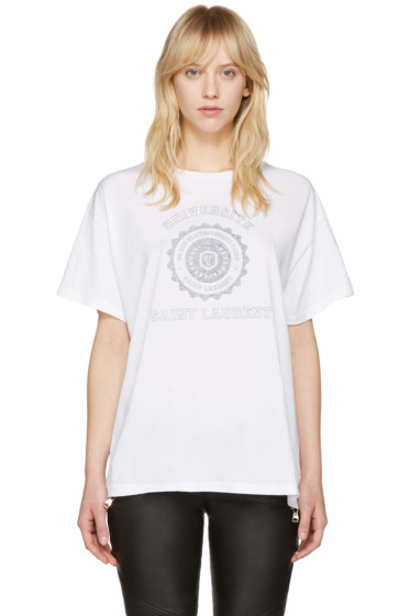 Saint Laurent - White Université T-Shirt