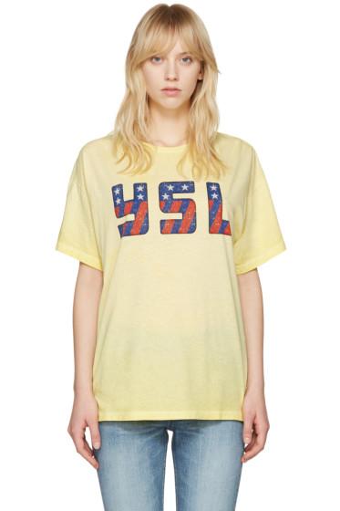 Saint Laurent - Yellow USA T-Shirt