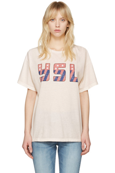 Saint Laurent - Pink USA T-Shirt