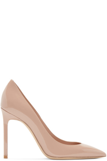 Saint Laurent - Pink Patent Leather Anja Pumps