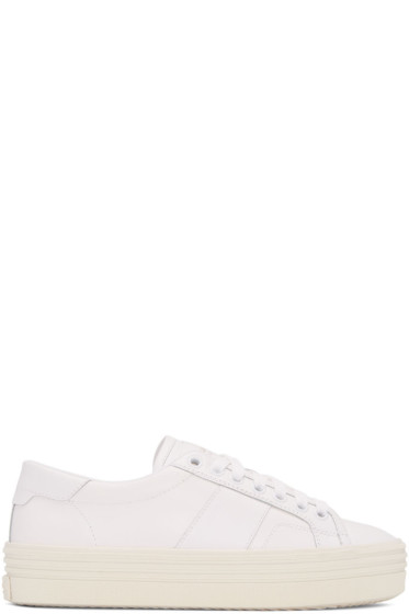 Saint Laurent - Off-White SL/39 Court Classic Platform Sneakers