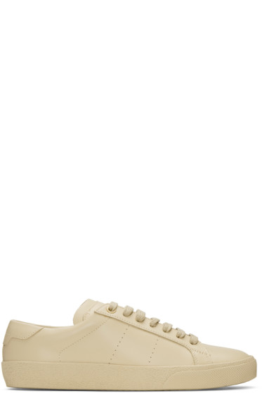 Saint Laurent - Beige SL/06 Court Classic Sneakers