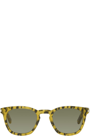 Saint Laurent - Tan Leopard SL 28 Sunglasses