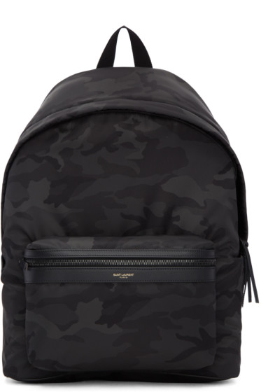 Saint Laurent - Black Camo City Backpack