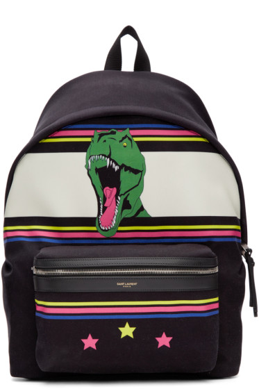 Saint Laurent - Black Dino City Backpack