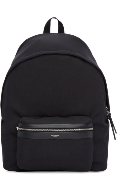 Saint Laurent - Black Giant City Backpack
