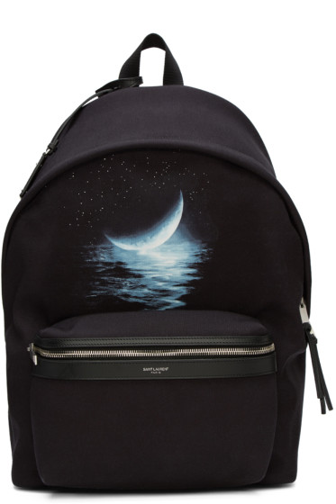 Saint Laurent - Black Moonlight City Backpack