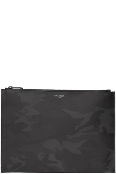 Saint Laurent - Black Camo Document Holder