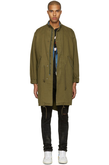Saint Laurent - Green 'Sweet Dreams' Military Parka