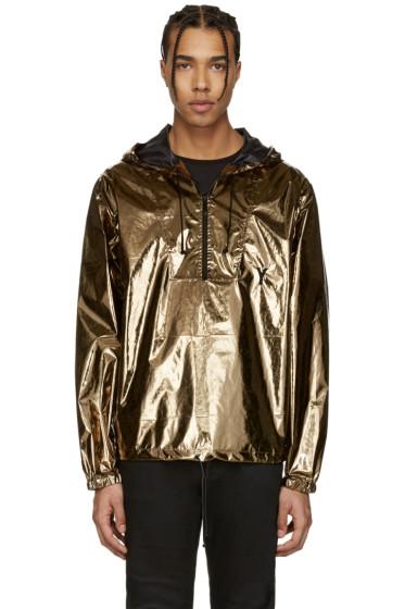 Saint Laurent - Gold Lamé Windbreaker Jacket