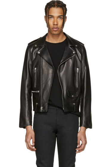 Saint Laurent - Black Leather Biker Jacket