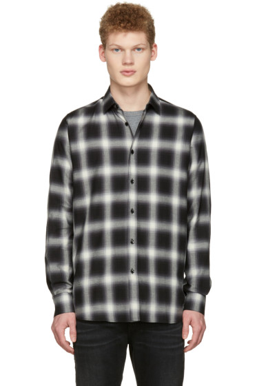 Saint Laurent - Black Check Shirt