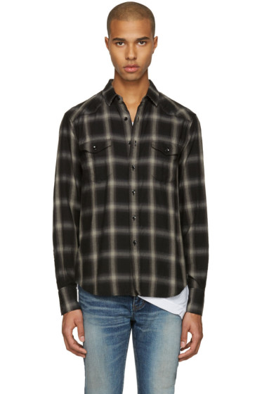 Saint Laurent - Grey Check Shirt