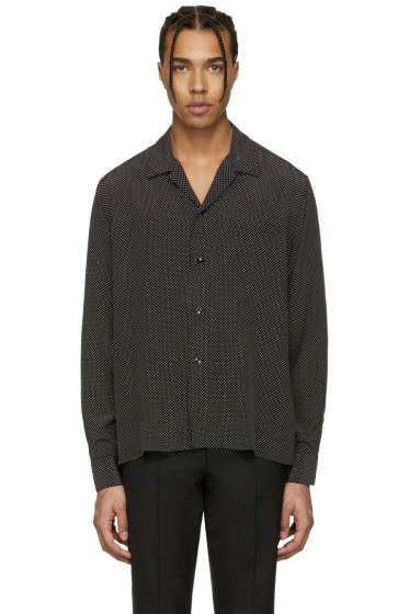 Saint Laurent - Black Pyjama Collar Shirt