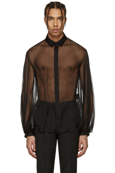 Saint Laurent - Black Sheer Shirt