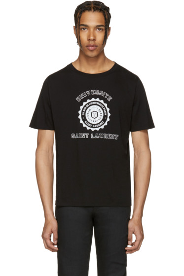 Saint Laurent - Black Université T-Shirt