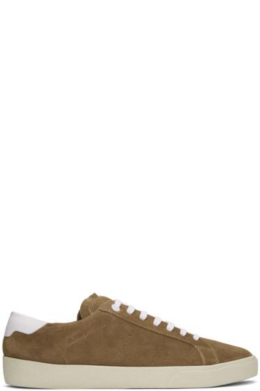 Saint Laurent - Brown Suede SL/06 Court Classic Sneakers