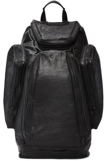 Julius - Black Lambskin Backpack