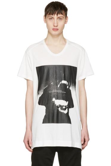Julius - ホワイト ドッグ T シャツ