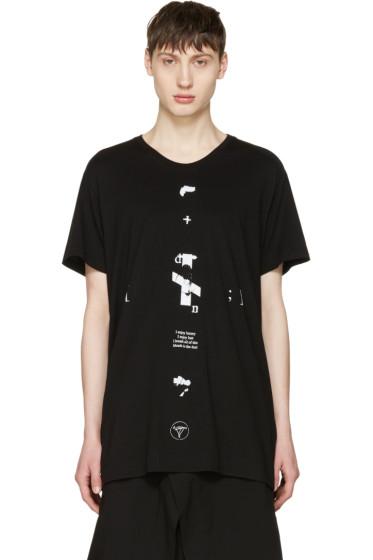 Julius - Black 'Downwards' T-Shirt
