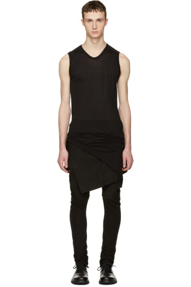 Julius - Black Suspend Cut & Sewn Tank Top