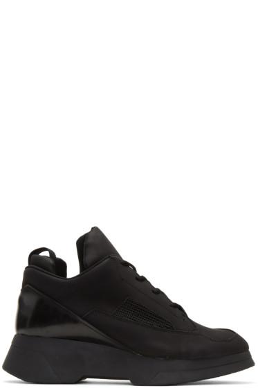 Julius - Black Coated Sneakers