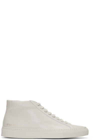 Woman by Common Projects - Beige Original Achilles Mid Sneakers