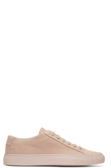 Woman by Common Projects - Pink Canvas Achilles Low Sneakers